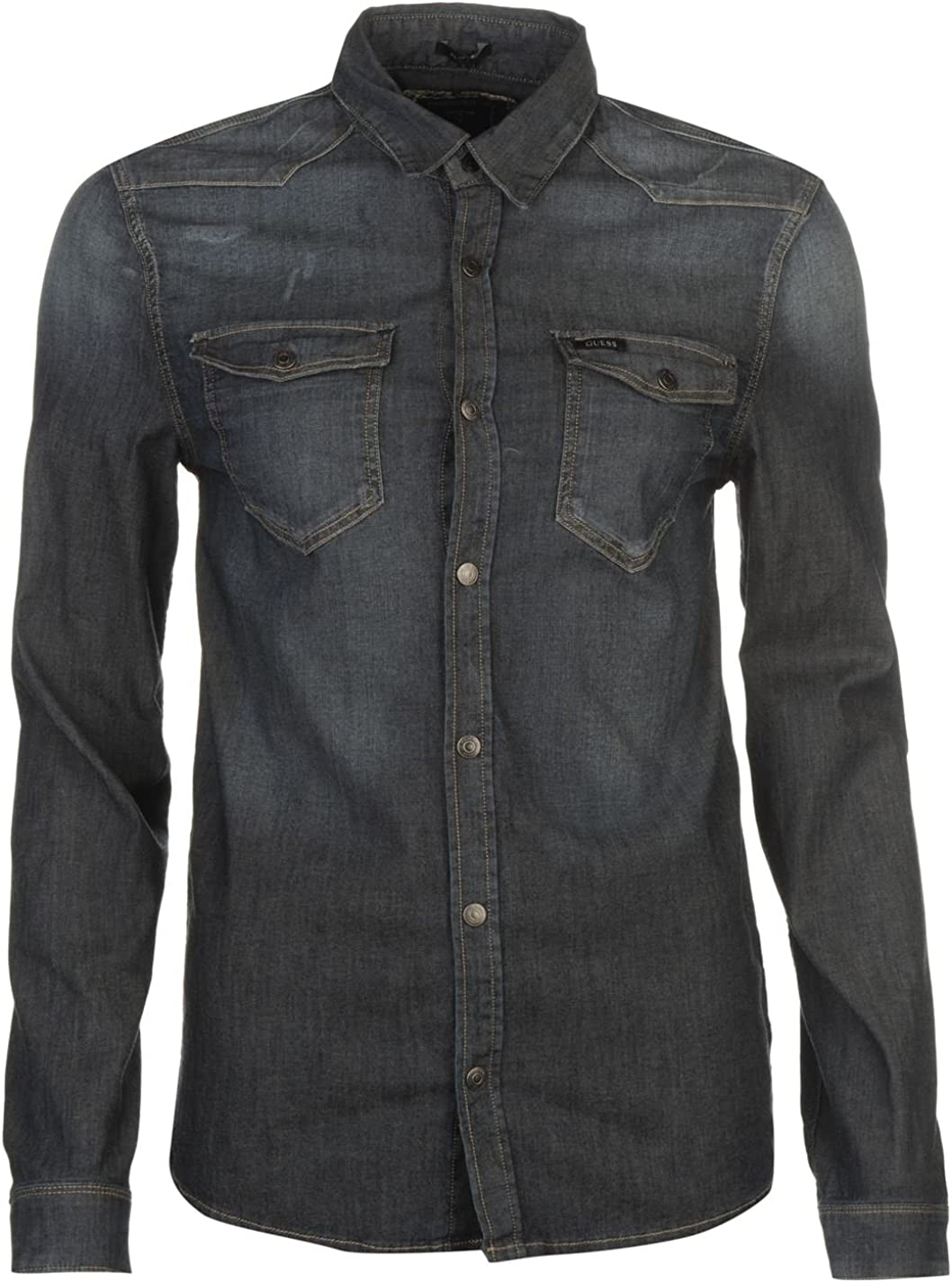 Guess Hombre Truckee Camisa Ropa Vestir Casual Mangas Largas ...