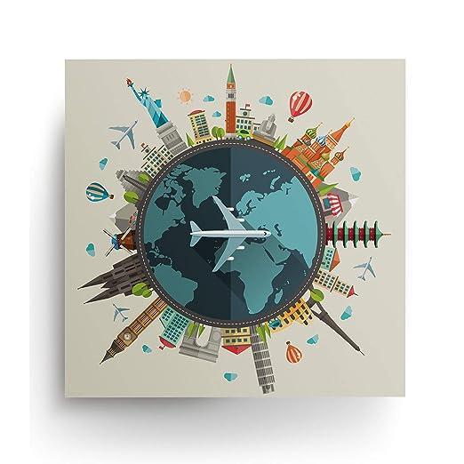 Decords Mapa del Mundo Viajar Cartel Viajero Carteles ...