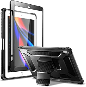 Dexnor Stand Case for iPad 10.2 8th Gen 2020/7th Gen 2019, [Built in Screen Protector] [Pencil Holder] [Hidden Kickstand] Full Body Protective Tablet Cover for iPad 8th/7th Generation 10.2