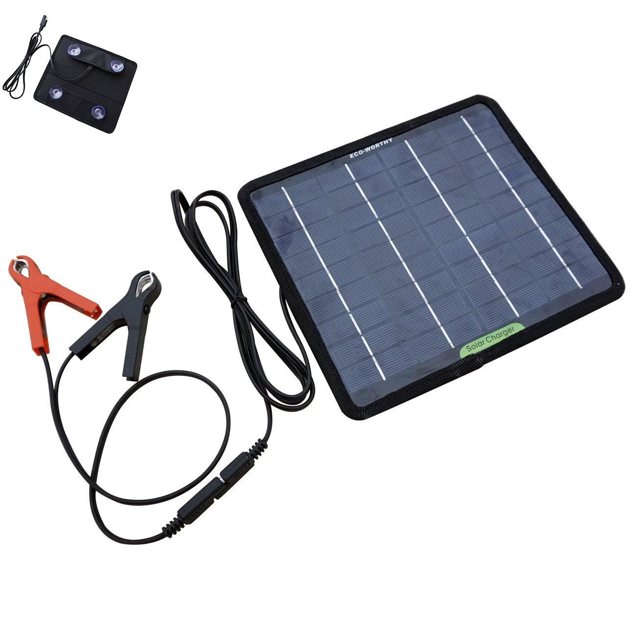 Petite taille 5W Panneau solaire portable pour bateau de voiture motos 12V Charge de la batterie