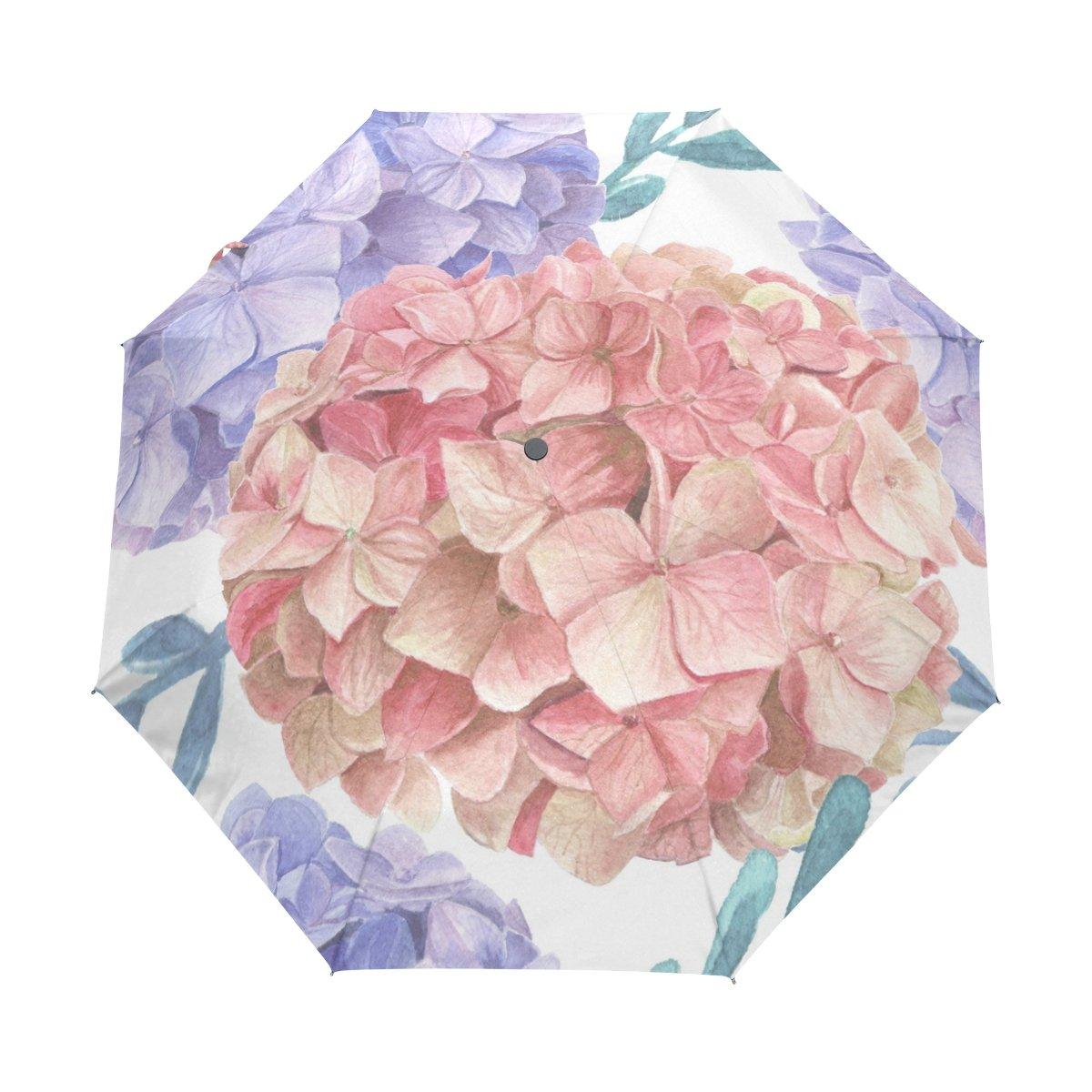 Senya Saobao防風と防雨トラベル傘with自動開いて閉じFolding美しいレトロ花柄ポータブル折りたたみ式太陽雨傘   B07FF278NR