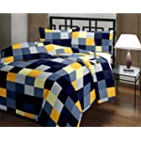 Ecraftindia Checked Print Reversible Poly Cotton Ac Blanket (Single Bed) - Multicolour