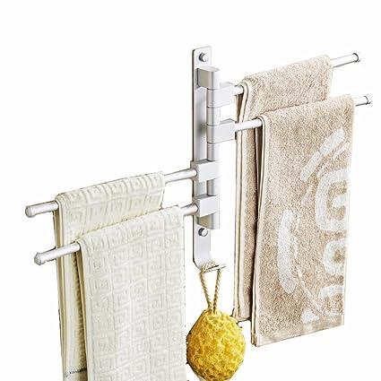 Accesorios de baño Yomiokla - Toalla de metal para cocina, inodoro, balcón y bañoOro