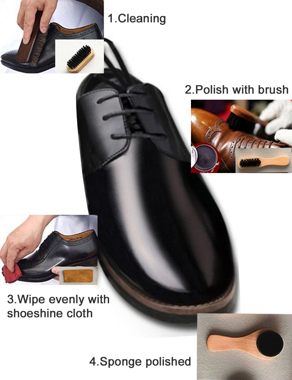 FineInno Travel Shoe Care Kit, Portable Shoes Polish Set Gift Kit (Option 1) by FineInno (Image #3)