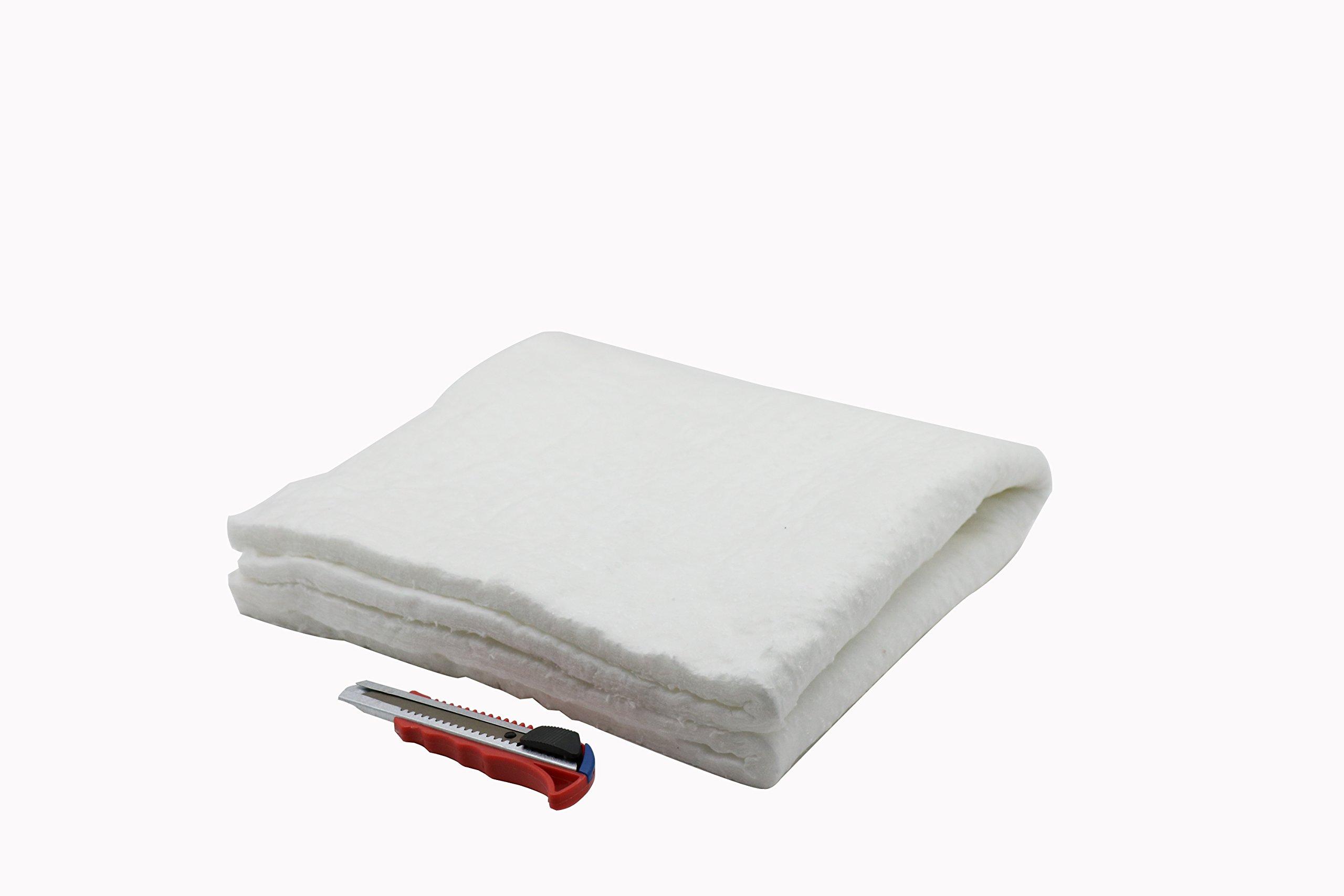 HM&FC 1/2''24''24'' Ceramic Fiber Insulation Blanket 2400F for QuadraFire Wood Stoves, & More. by HMFC