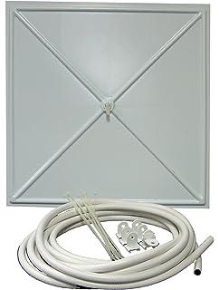 InBrella 100 White Polystyrene Plastic Ceiling Tile Leak Diverter, ...