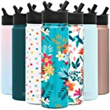 Simple Modern 22oz oz Summit Water Bottle with Straw Lid - Gifts for Men & Women Hydro Vacuum Insulated Flask Double Wall Liter - 18/8 Stainless Steel Pattern: Molokai