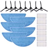 KEEPOW 20 Pcs Accessories Replacement Parts for ILIFE V3s Pro, V3s, V5, V5s, V5s Pro Robot Vacuum (Included 8 Side Brushes+6 Mop Pads+6 Filters)