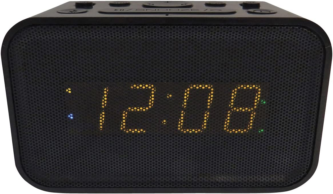 Geneva Bluetooth Alarm Clock with USB Charging Port