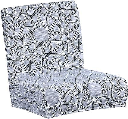 Fenteer Copertura per Sedia da Pranzo con Seduta E Fodera per Sgabello da Bar Elasticizzato A/_Light Grey
