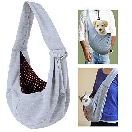 79db7b883d9 Amazon.com : XYJNN Dog Carrier Sling, Reversible Dog Carrier Front Pack for Small  Dogs Cats Hands Free Pet Puppy Carrier Tote Pet Carrier Bag for Travel Car  ...