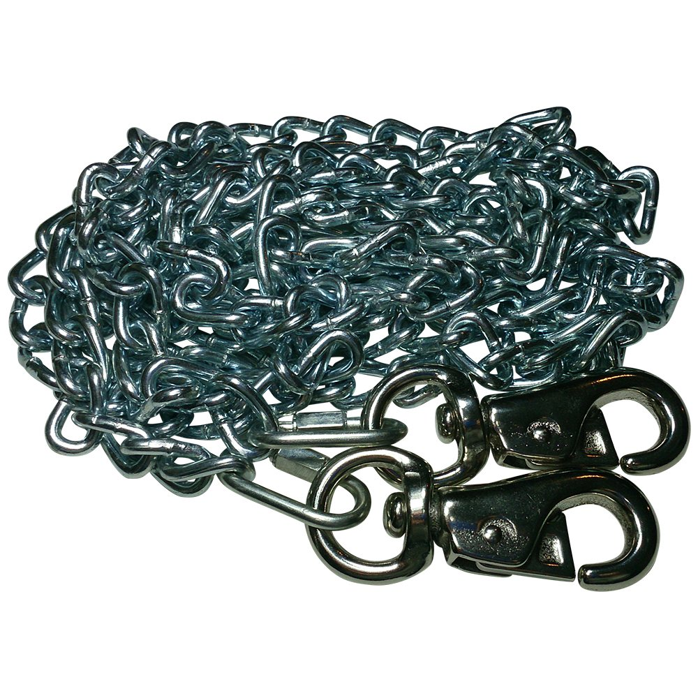 Beast-Master Twist Link Tie-Out Chain Cattle Snaps Heavy Duty Big Dogs (40 FT)