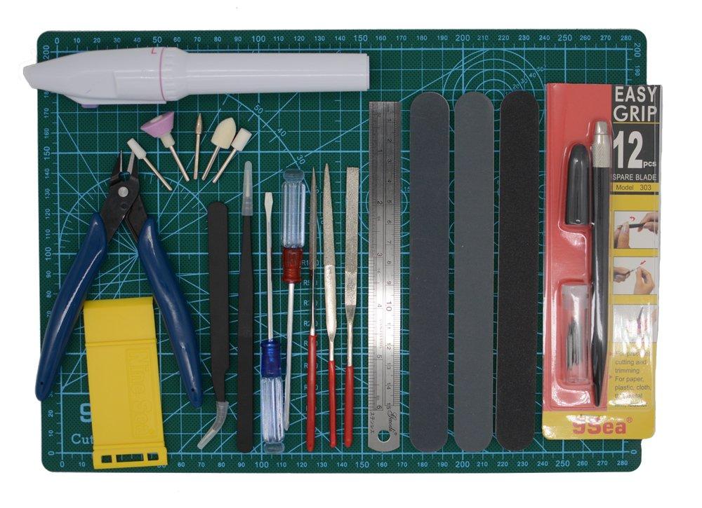 Gundam Modeler Builder's Tools Craft Set Kit 16 PCS For Professional Bendai Hobby Model Assemble Building product image