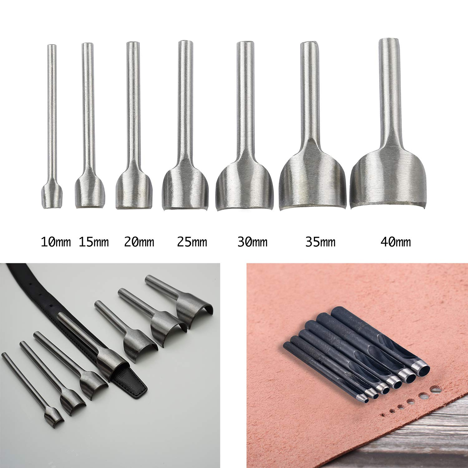 Dorhui 372 Pieces Leather Crafting Tools,Leather Tools Leather Working Tools and Supplies, Leather Craft Stamping Tool, Prong Punch, Hole Hollow Punch, Matting Cut for DIY Leather Artworks by Dorhui (Image #5)
