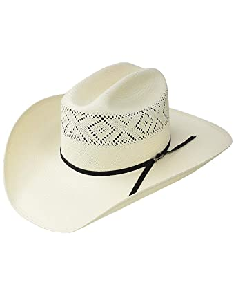 6e8c9e9abb6d4 Stetson Men s Natural 10X Saddleman Straw Cowboy Hat at Amazon Men s  Clothing store