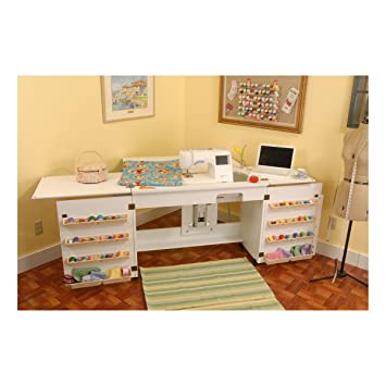 Amazon.com: Arrow Cabinet 98701 Bertha Sewing Cabinet, White