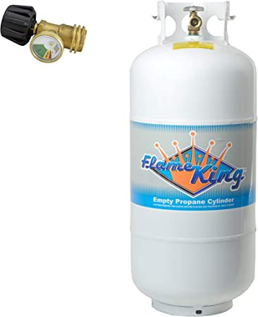 30 lb Empty Propane Cylinder Fuel Container Type 1 Overfill Protection Valve New