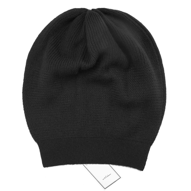 a69f9e83e WaySoft 100% Cashmere Beanie for Women in a Gift Box, Oversized Women  Beanie Hat