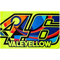 VR46Rossi Vale Yellow Flag, Yellow, One Size