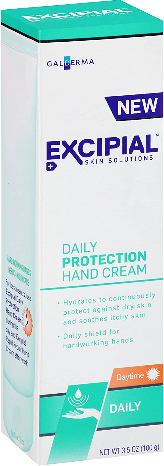 Excipial Skin Solutions Daily Protection Hand Cream, 3.5 oz - 2pc: Health & Personal Care