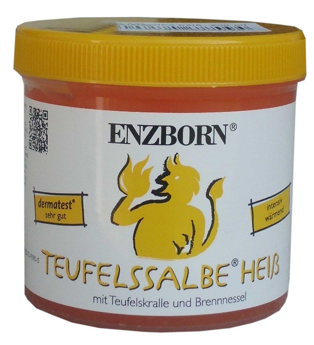 Pomada para caballos Enzborn Teufelssalbe HEISS 200 ml, un intensivo térmica Gel del cuidado con el natural Kraft El Garra del diablo y de la de ortiga. Pomada de diablo en caliente
