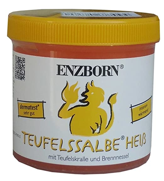 Pferdesalbe Enzborn Teufelssalbe HEISS 200 ml, ein intensiv wärmendes Pflegegel mit der natürlichen Kraft der Teufelskralle u