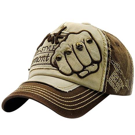 ❤️Amlaiworld Gorras de béisbol casuales Hombre mujer Gorra deportiva Gorras bordadas del casquillo del remache