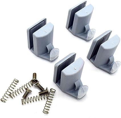 4 guías/rodillos/ruedas/rieles para ganchos de mampara de ducha YQ ...