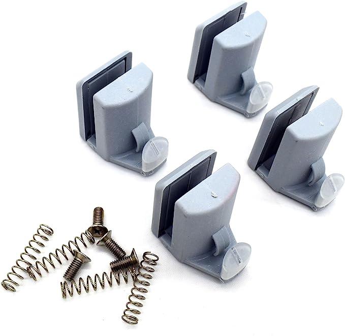 4 guías/rodillos/ruedas/rieles para ganchos de mampara de ducha YQ-1011: Amazon.es: Bricolaje y herramientas
