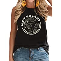 Ain't No Laws When You're Drinking Claws Funny Tank Top Women Vintage Graphic Tees...