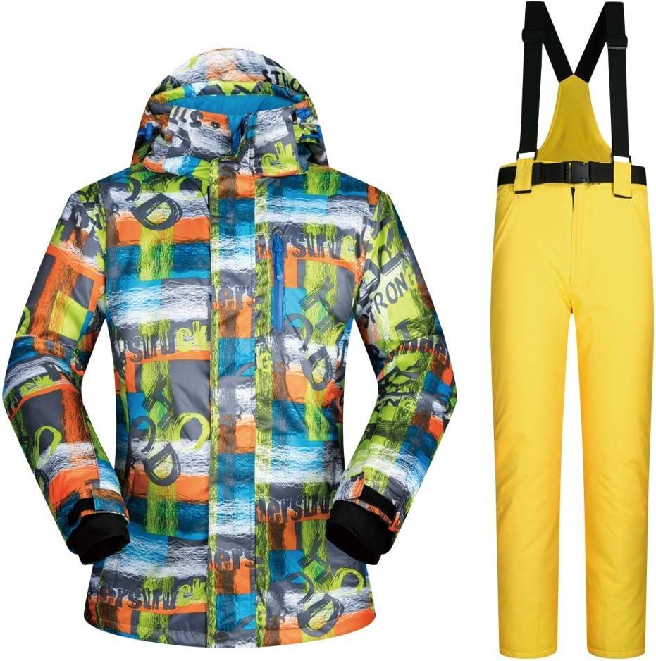 アウトドアスポーツスキージャケット スノースーツスーツ男性の屋外シングルとダブルボード防風防水ウォームスキー服 (色 : C4, サイズ : XXL) C4 XX-Large