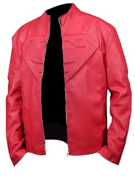 Leatherly Chaqueta de hombre Smallville Superman Rojo ...