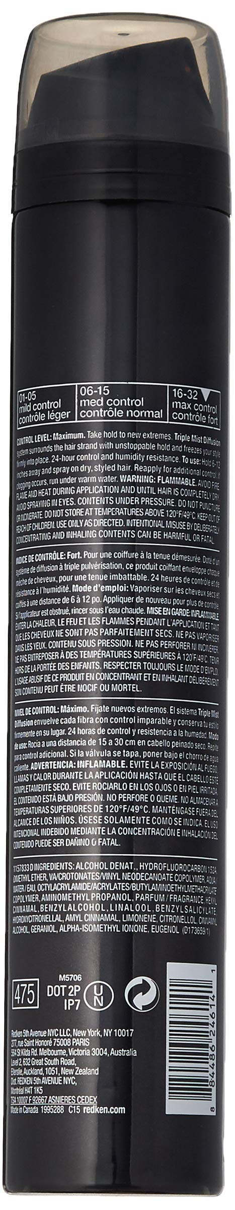 Redken Redken triple take 32 extreme high hold hairspray, 9 ounce, 9 Ounce by REDKEN