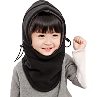 Purjoy Kids Winter Windproof Cap,Children's Double Warm Balaclava Face Mask for Cold Weather,Neck Warmer,Adjustable Full Face Cover