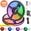 Eseye 32.8 ft 12V 5A 5050 300LED IP65 Waterproof Flexible RGB Tape Light