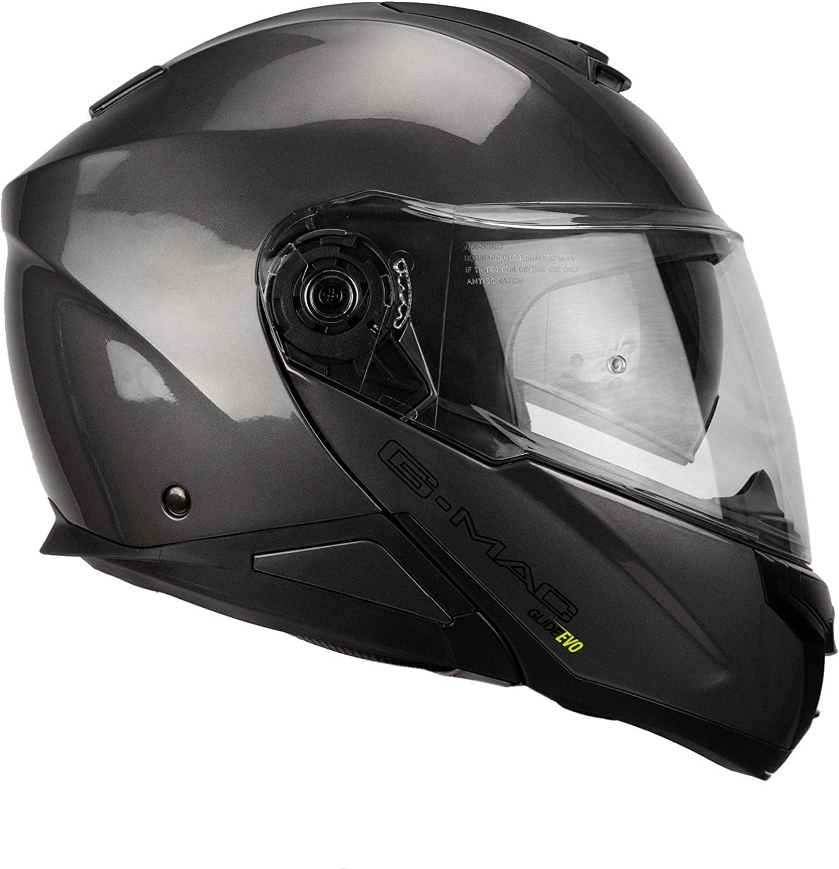 G-MAC Glide Evo Casque de moto /à rabat Gris m/étallis/é