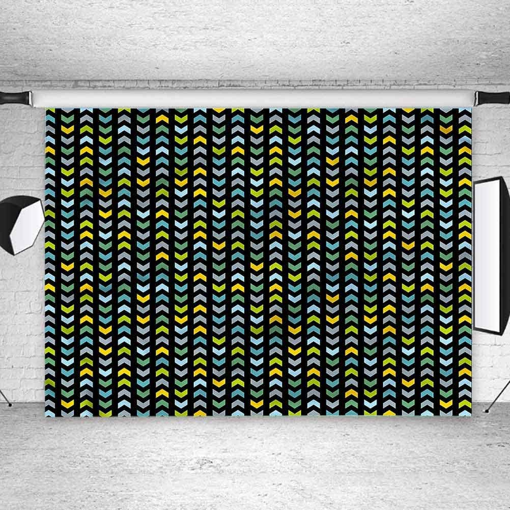 8x8FT Vinyl Wall Photography Backdrop,Chevron,Colorful Arrows Pattern Photo Backdrop Baby Newborn Photo Studio Props
