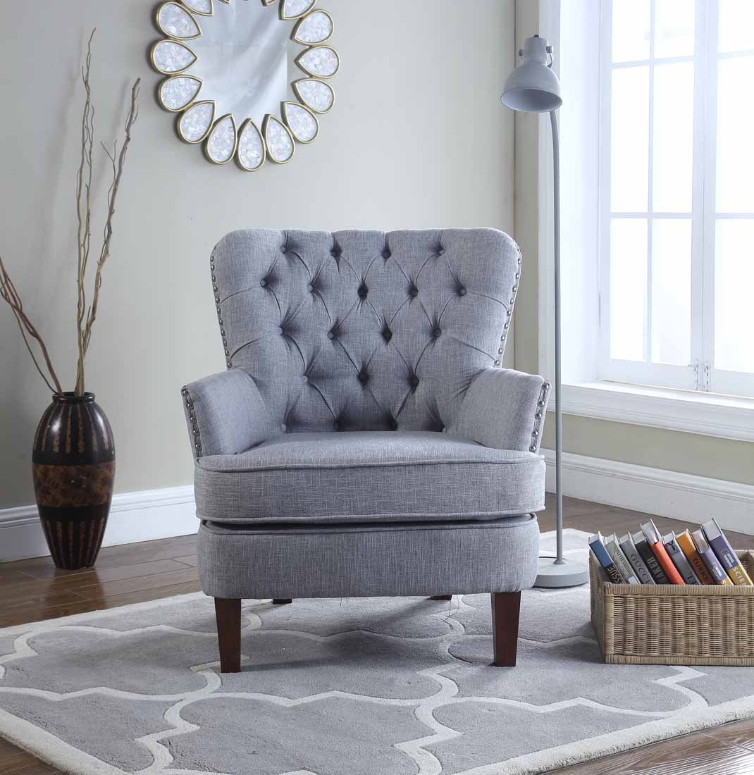 Bentley Button Tufted Accent Chair