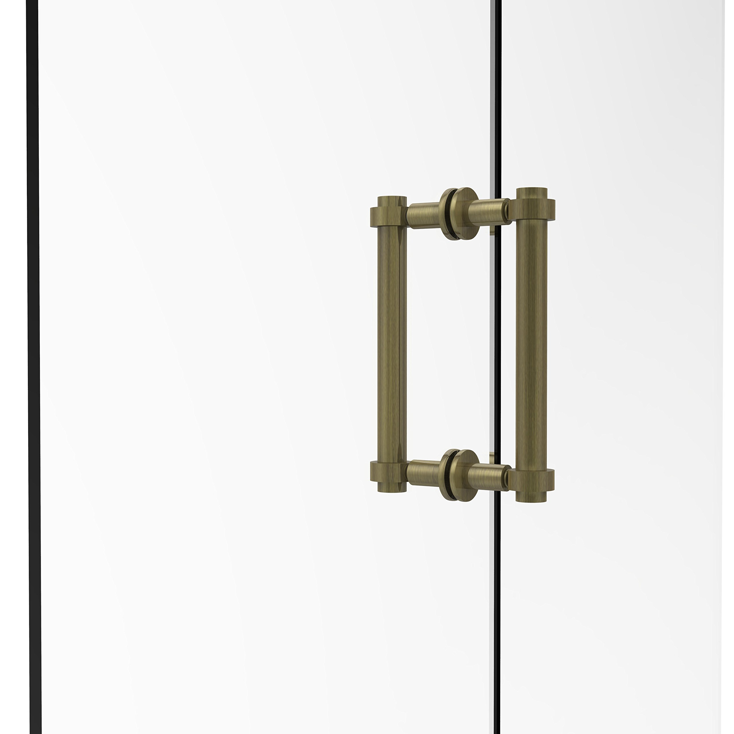 Allied Brass 404-8BB-ABR Contemporary 8'' Back To Back Shower Door Pull,
