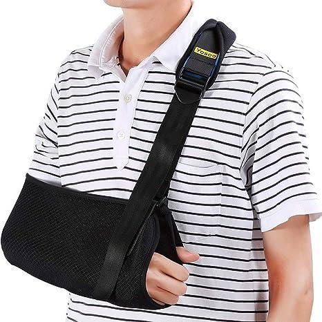 Cabestrillo para brazo Sling Eslinga de hombro dislocado para brazo roto Inmovilizador  Soporte de codo de 3b5c7687ae68