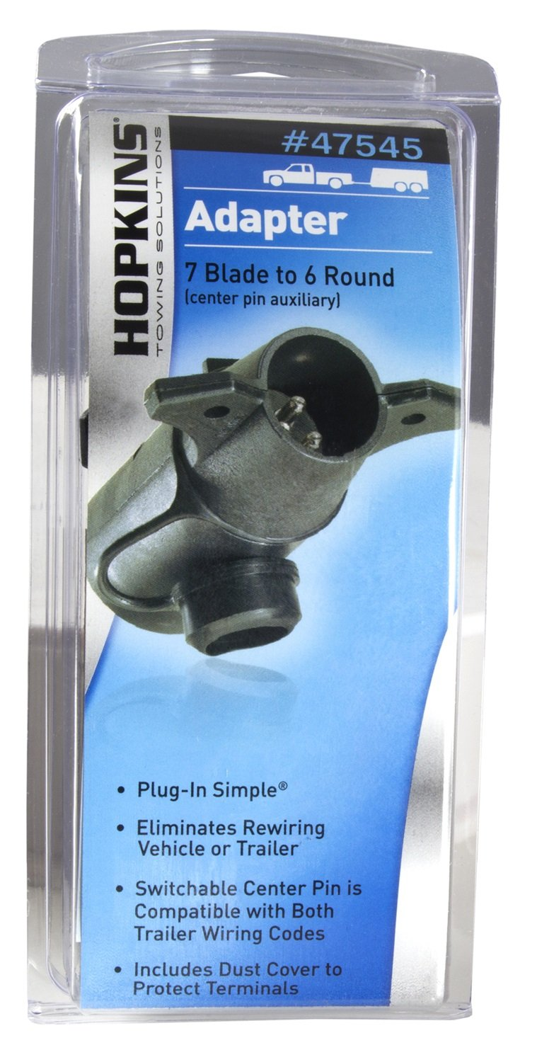 Hopkins 47545 Round Adapter Automotive Pole To 6 And 4 Trailer Wiring