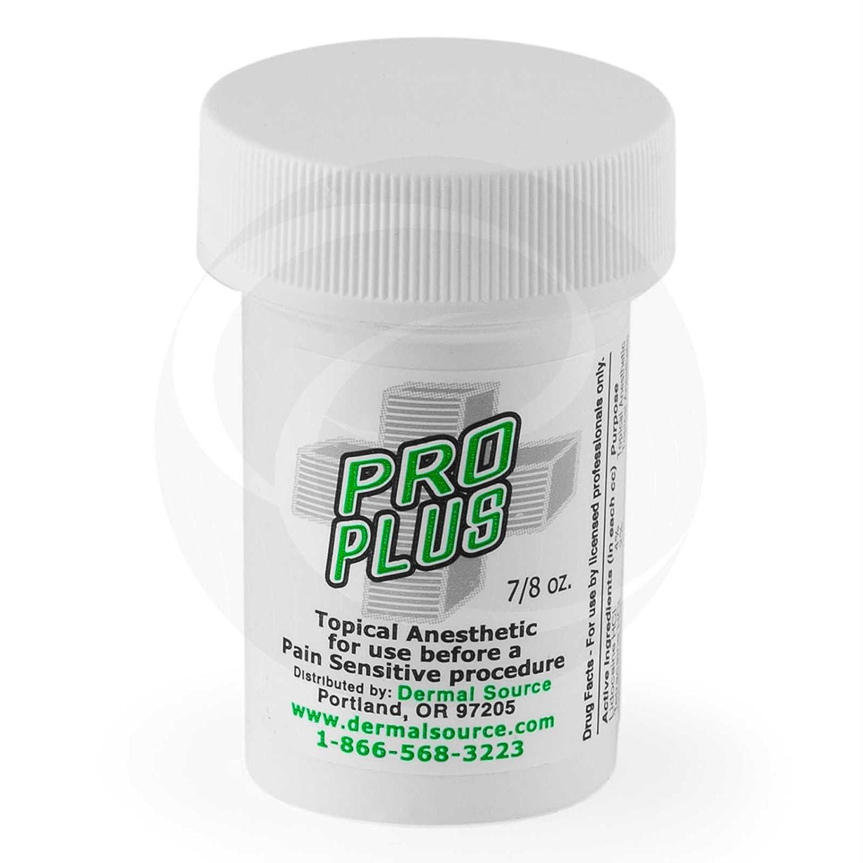 Pro Plus Lidocain Tattoo Numbing Topical Anesthetic Cream Gel - 7/8 oz Dermal Source