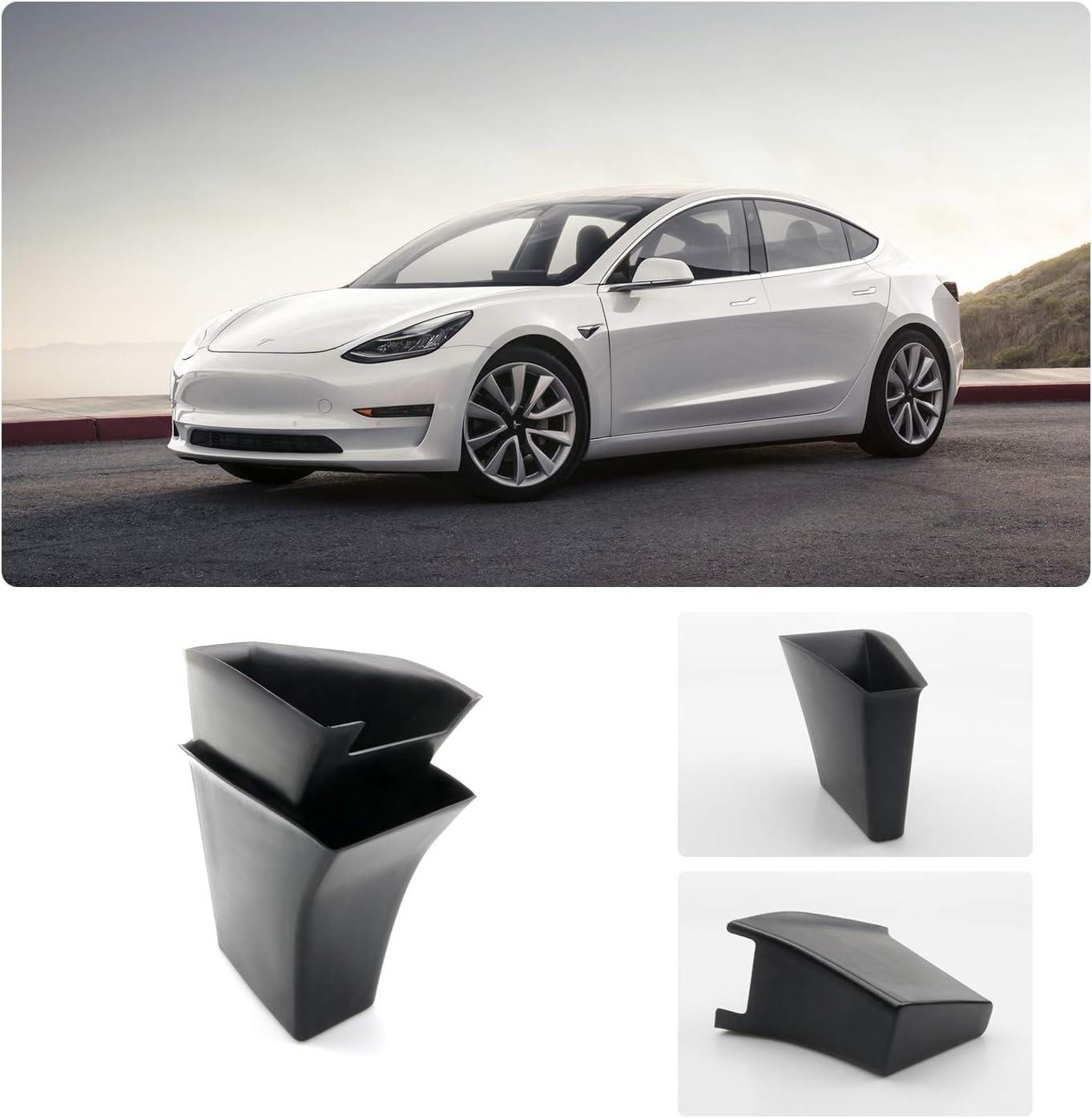YEE PIN Tesla Model 3 Armrest Container Organizer Tray Organizer Tray Door Side Pallets Handle Pocket Fits for 2018 2019 Tesla Model 3 Storing Little Stuff 2PCS