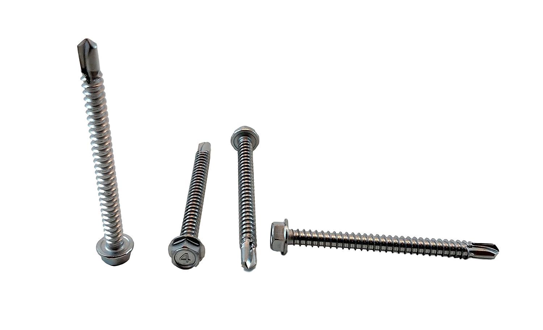 /Juego de tornillos perforadores Kit # 8/x 1//2/a 1/ edcarrying 250/pcs 410/cacerola de acero inoxidable cabeza Phillips/ /1//4