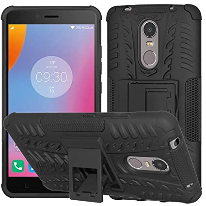 DMG Lenovo K6 Note Kick Stand Cover, Protective Heavy Duty Dual Layer Back  Cover Case for Lenovo K6 Note (Black)