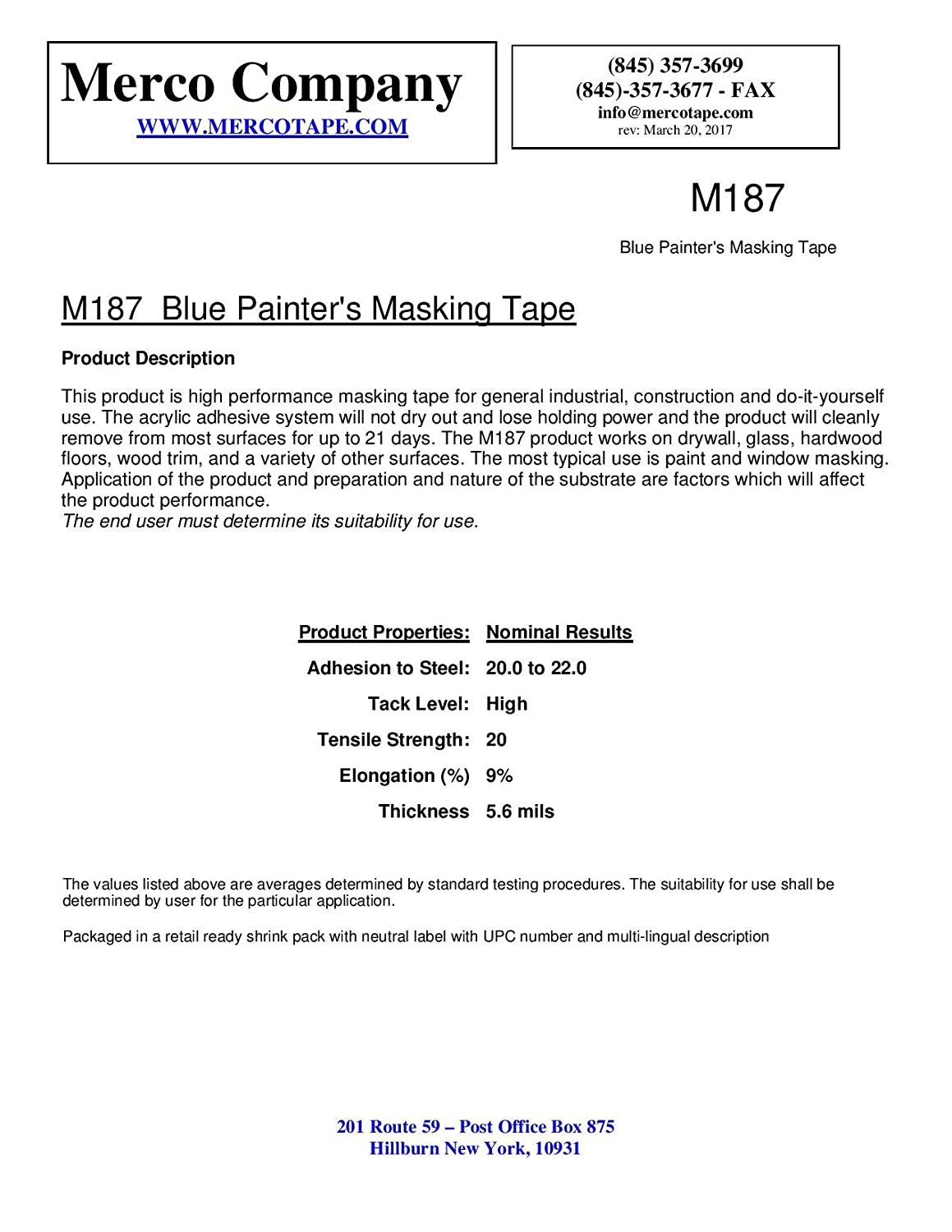 Merco M187 Blue Painters Masking Tape Full Case 36mm Wiring Diagrams X 55m 21 Day Clean Release 24 Rolls Home Improvement
