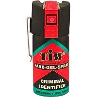 Spray De Défense Tiw Farb-Gel 40 Ml Version Clapet Ou Clip Ceinture Nouvelle Version (Version Clip Ceinture)