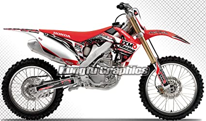 Amazon.com: Kungfu Graphics Custom Decal Kit for Honda CRF250R 2010 ...