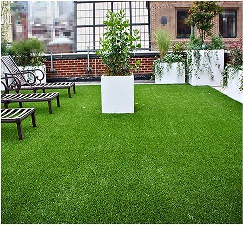 GHHZZQ Alfombra de Césped Artificial Anti-envejecimiento Respirable Impermeable Techo Jardín Balcón, Altura del Césped 2.0/2.5/3.0cm (Color : A, Size : 2x3m): Amazon.es: Hogar