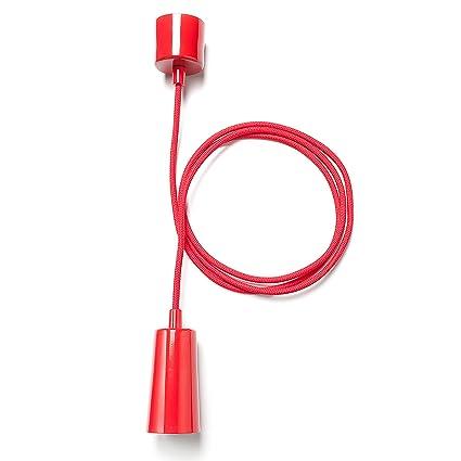 Klein & More 14755 Plumen - Cable para colgar lámparas de techo, color rojo
